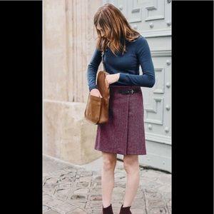 Boden Feshia herringbone Faye tweed kilt skirt